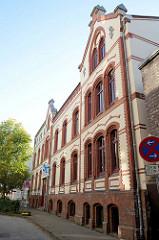 Ehemalige Warteschule in der Eddelbüttelstraße von Hamburg-Harburg, das Gebäude steht unter Denkmalschutz und wurde 1901 errichtet.