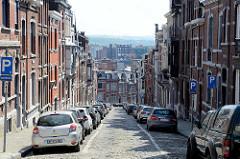Wohnhäuser in der Rue Etienne Soubre von Lüttich / Liège.