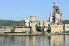 Industrieanlage am Ufer des Albert Kanals in Belgien.