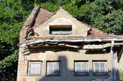 Architektur in Oderberg -  verfallenes, leerstehendes Speichergebäude in der Angermünder Straße.