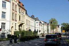 Wohnhäuser/Villen der Gründerzeit in der Dahlmannstraße von Wismar.