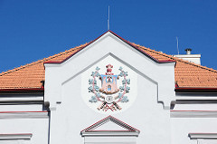 Wappen am Giebel - Bilder aus der Südstadt von Krumau an der Moldau.