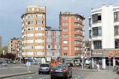 Doppelblock - Eckgebäude am Place Théodore Gobert / Maasufer in Lüttich / Liège.