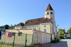 Synagoge von Krumau an der Moldau / Český Krumlov; errichtet 1909 - Architekt  Victor Kafka. Die profanierte Synagoge ist seit 1958 ein geschütztes Kulturdenkmal.