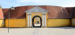 Palais von Roskilde; errichtet 1736 als Bischofssitz  und Aufenthaltsort der königlichen Familie. Jetzt auch Museum für Gegenwartskunst.