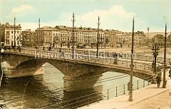 Historische Ansicht der Pont de la Boverie über die Maas in  Lüttich / Liège.