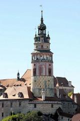 Schlossturm vom Schloss Český Krumlov / Schloss Krumau.