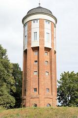 Historischer Wasserturm der Stadt Bützow, errichtet 1906; genutzt bis 1970, dann Umbau zu einem Wohngebäude.