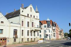 Historische Wohnhäuser an der Dahlmannstraße / Dankwartstraße   in der Hansestadt Wismar.