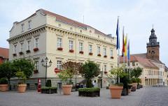 Rathaus der Hansestadt Havelberg, errichtet 1854 - Umbau 1936.