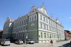Historische Architektur in der Stadt Budweis / České Budějovice; Schulgebäude, Základní škola Matice školské.