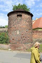 Historischer Wehrturm der alten Stadtbefestigung von Pieszyce / Peterswaldau.