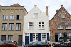 Historische Wohnhäuser in der Boeveriestraat von Brügge.