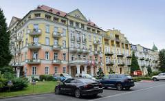 Wohnhäuser/ Hotels in   Franzensbad / Františkovy Lázně.