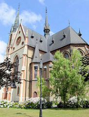 St.-Antonius-Kirche in Peterswaldau / Pieszyce, erbaut 1875.