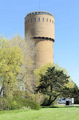 Alter Wasserturm in Zeebrugge.