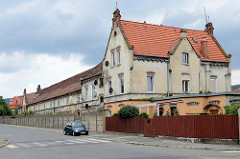 Historische Architektur der ehemaligen  Dierig Textilwerke / Bielbaw - Industrieruine in der polnischen Stadt Langenbielau/Bielawa.