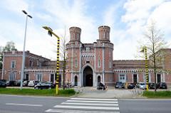 Eingang vom Zentralgefängnisses in Löwen / Leuven.