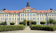 Historische Architektur in Budweis / České Budějovice, Gebäude des České Budějovice Hospital.