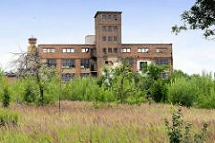 Historische Industriearchitektur der ehemaligen Dierig Textilwerke / Bielbaw - Industrieruine in der polnischen Stadt Langenbielau/Bielawa.