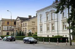 Historische Architektur in der Straße Wolności  von Langenbielau/Bielawa, jetzt unter anderem als Kindergarten genutzt
