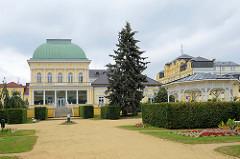 Gesellschaftshaus/Casino im  Kurort Franzensbad / Františkovy Lázně;  erbaut 1877 -Architekt der Neo-Renaissance Architektur Baumeister Gustav Wiedermann.