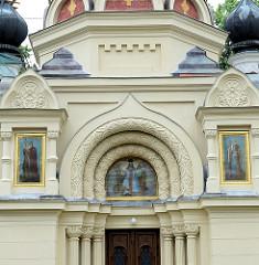 Orthodoxe Kirche der Heiligen Olga in    Franzensbad / Františkovy Lázně;  geweiht 1889,  neobyzantinischen Baustil - Architekt  Gustav Wiedermann.