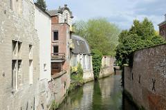 Lauf des Flusses Dijle durch Löwen / Leuven.