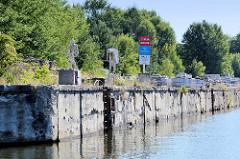 Gedenkort Außenlager Klinkerwerk am Klinkerhafen an der Havel-Oder-Wasserstraße bei Oranienburg / Sachsenhausen.