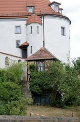 Torhaus vom Schloss Altenburg, Renaissance-Architektur vom Residenzschloss der Herzöge von Sachsen-Altenburg.