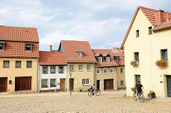 Wohnhäuser an der Fleischergasse in Altenburg.