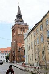 Blick zur Pfarrkirche St. Marien in Güstrow.