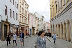 Fußgängerzone/ Geschäftsstraße Riegrova in Olmütz/ Olomouc.