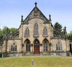 Friedhofskapelle am Grüntaler Weg in Altenburg - eingeweiht 1907, neogotische Architektur.