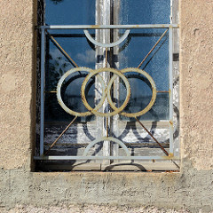 Detail der Villa Hirsch in der Messingwerksiedlung von Finow - die Fabrikantenvilla wurde 1916 nach Plänen von Paul Mebes entworfen; sei 2006 Leerstand.