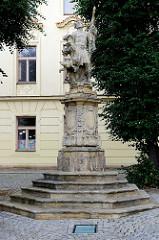 Alte Statue von St. Florian in Olomouc / Olmütz,