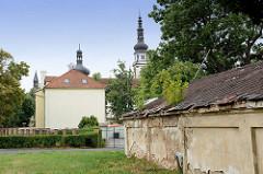 Areal am Kloster Hradisch in Olmütz / Olomouc; ehemalige Niederlassung der Benediktiner und später der Prämonstratenser. Die heutigen Bauten wurden 1661–1737 nach Plänen der Architekten Giovanni Pietro Tencalla und Domenico Martinelli im Barockstil e