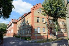Wohnhäuser in der Messingwerksiedlung von Finow.