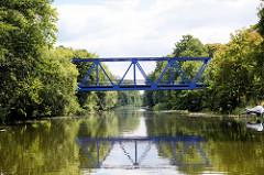 Eisenbahnbrücke über den Finowkanal bei Ruhlsdorf.