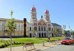 Große Synagoge in Pilsen / Plzeň; maurisch-romanischer Baustil, 1893 fertig gestellt - Architekt Emanuel Klotz.