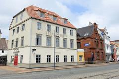 Gebäude  vom ehem. Störtebekerhaus in Flensburg - vormals Hafenkneipe; ab 2017 Hostel Seemannsheim + Hafenküche.
