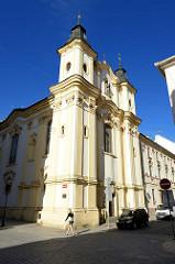 St. Annakirche in Pilsen / Plzeň - ehem. Klosterkirche der Dominikanerinnen, erbaut nach 1714 - Baumeister J. Auguston.