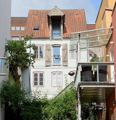 Altes Speichergebäude - zum Wohnraum umgebaut - bei der Norderstraße von Flensburg.