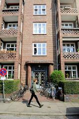 Siedlungsbau in der Gustav-Leo-Straße in Hamburg Eppendorf; errichtet 1926 - Architekt Ernst Gerson.