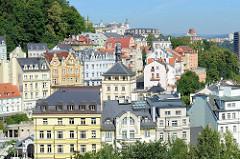 Panorama von Karlsbad /  Karlovy Vary - historisches Zentrum des Badeortes