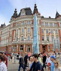 Historische Architektur in Karlsbad /  Karlovy Vary - Hauptpostamt, errichtet 1904 - Architekt Friedrich Setz.