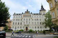 Landgericht Karlsbad / Karlovy Vary; das Gebäude im Baustil der Neorenaissance wurde 1907 errichtet - Architekt Förster.