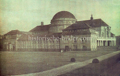 Historisches Foto vom Vorlesungsgebäude der Universität Hamburg.