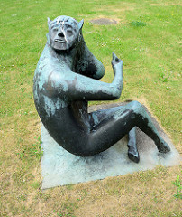 Pan Skulptur im Flensburger Stadtteil Fruerlund, Bildhauer Fritz During, 1971.