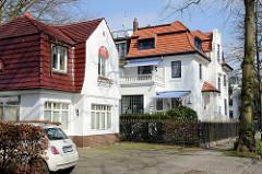 Wohnhäuser, Einzelhäuser im Stadtteil Eppendorf  / Arnold-Heise-Straße - Bilder der unterschiedlichen Architektur des Stadtteils.
